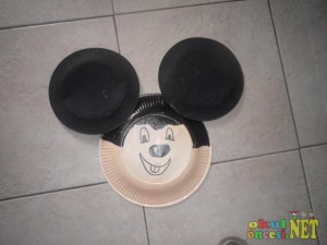 paper plate miki craft