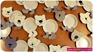 paper plate polar bear craft
