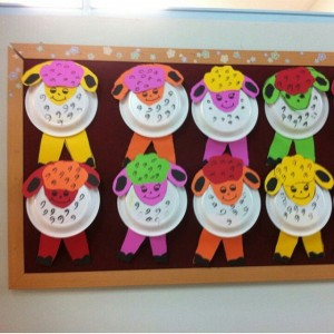 paper plate sheep craft idea