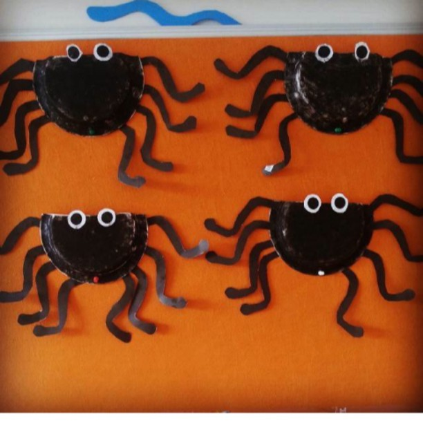 paper plate spider craft