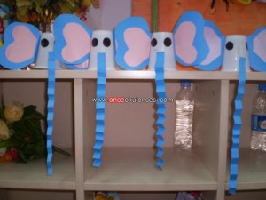 plastic cup elephant craft