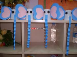 plastic cup elephant craft
