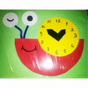 snail clock craft idea