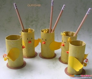 toilet paper roll chick craft