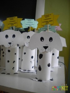 toilet paper roll dog crafts