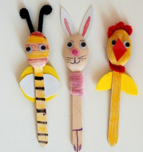 wooden spoon animal craft