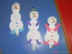 wooden spoon snowman craft
