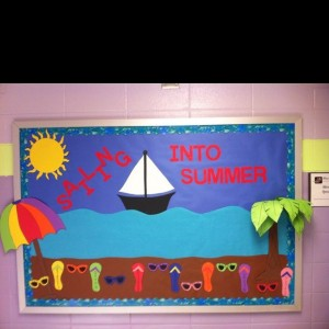 Sailing Into Summer Bulletin Board Idea