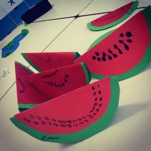 free watermelon craft idea