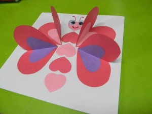 heart butterfly craft idea for kids