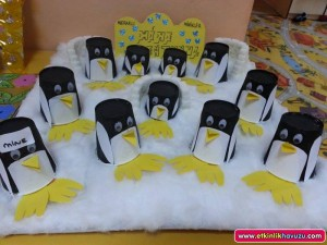paper cup penguin craft idea