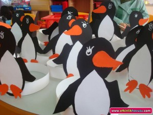 penguin handband craft