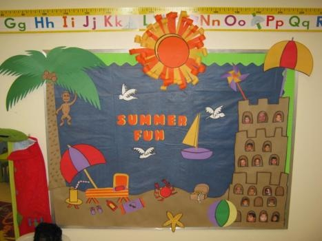 Crafts Actvities and Worksheets for Preschool Toddler and #2: summer bulletin board