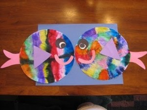 Coffee Filter Fish Craft