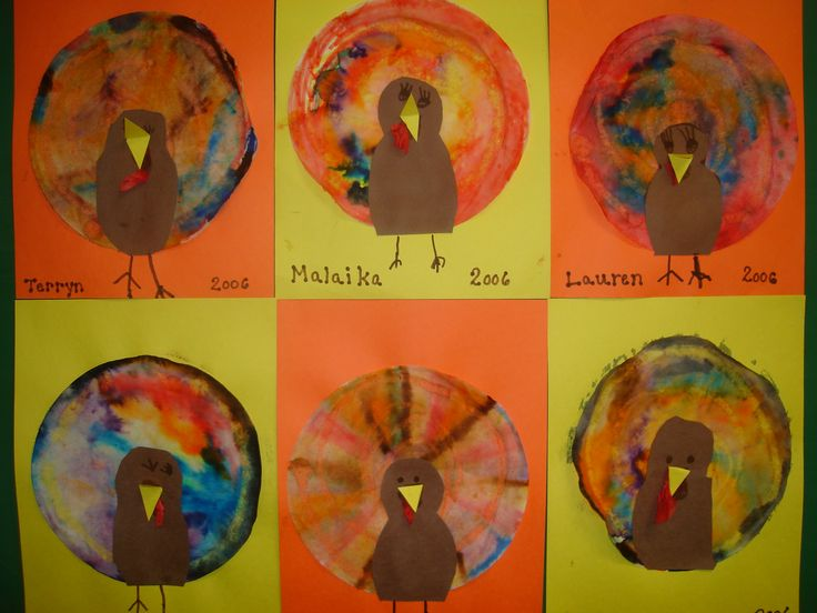 Coffee Filter Turkeys Crafts And Worksheets For Preschool