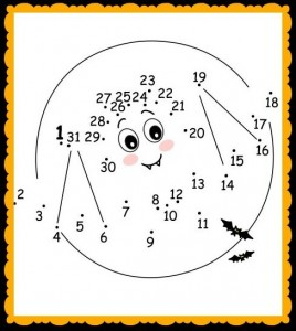 Dot-to-Dot PrintableHalloween Bat Worksheet for Kids