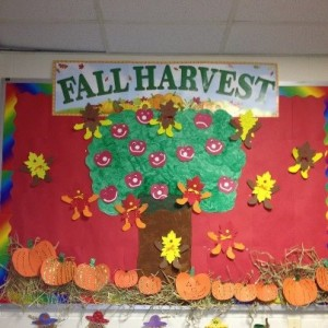 Fall harvest bulletin board