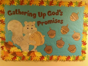 Squirrel bulletin board