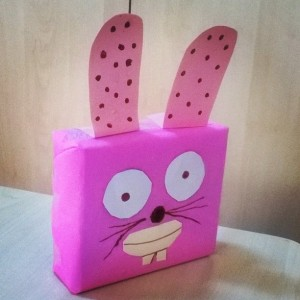 box bunny craft