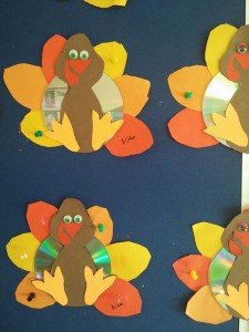cd turkey craft idea for kids