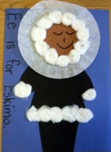 coffee filter eskimo crafts