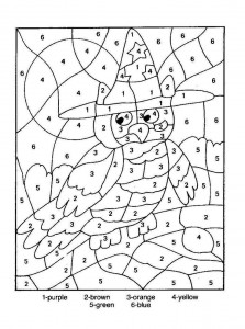 color by number owl worksheet