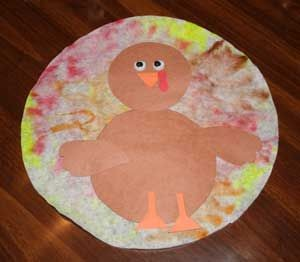 free coffee filter turkey craft