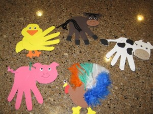 handprint farm animal craft