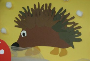 Hedgehog craft idea for kids