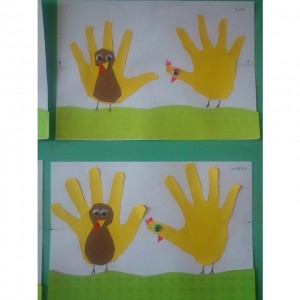 handprint turkey craft idea