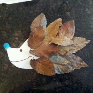 leafy hedgehog craft