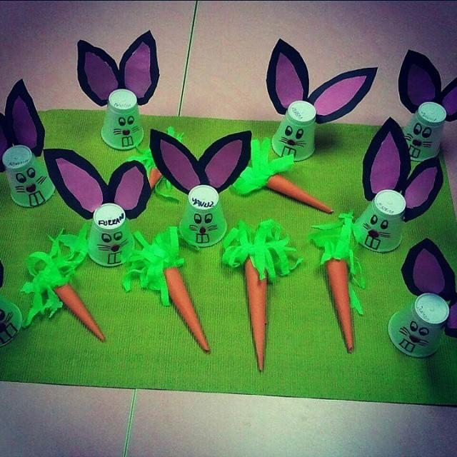 paper cup bunny craft idea