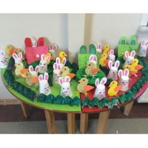 paper cup bunny crafts idea