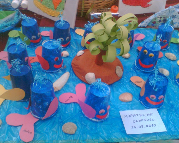 paper cup dolphin craft