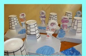 paper cup iglo and eskimo craft