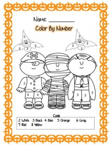 printable halloween worksheet