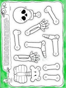 printable skeleton  pattern coloring (1)