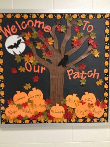 pumpkin bulletin board idea (5)
