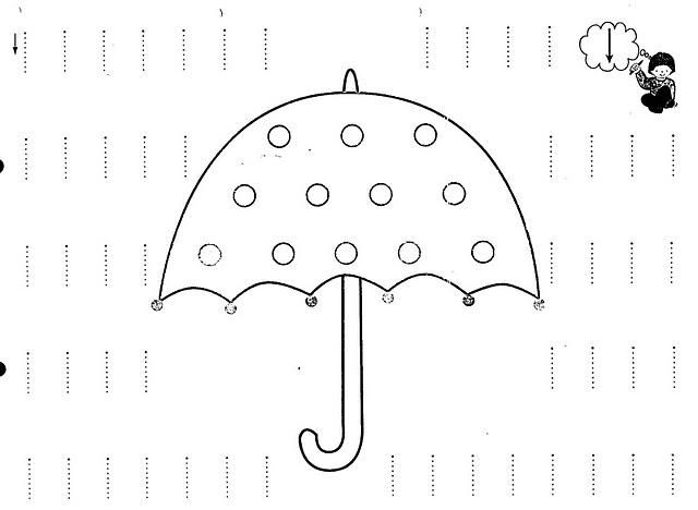 rain tracing worksheet   Crafts and Worksheets for Preschool,Toddler ...