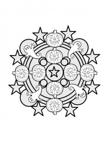 Ghost Mandala Coloring Page