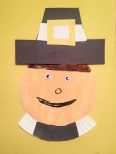 Paper Plate Pilgrim Man Craft