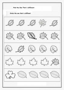 Spot Differences worksheet