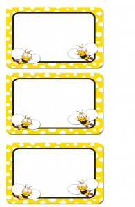 bee name tag