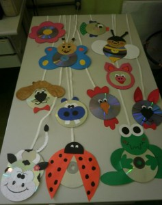 cd animals craft idea