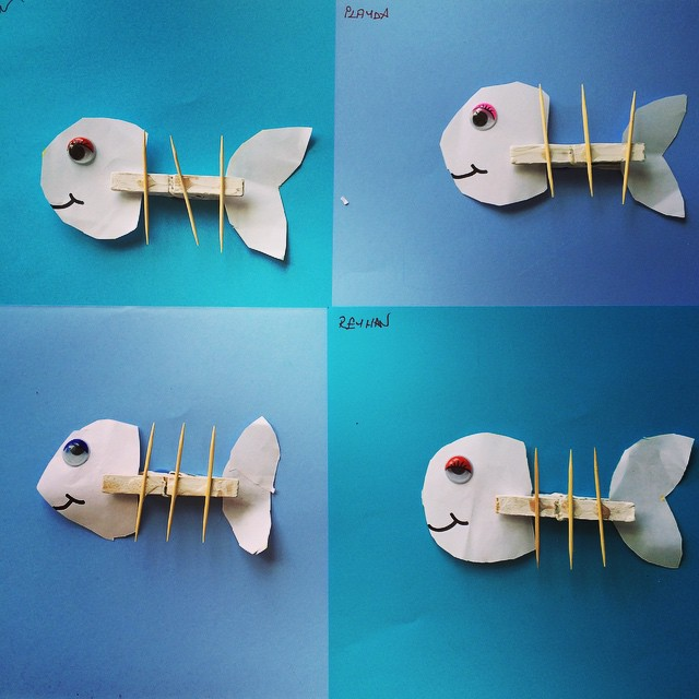 clothespin fish craft