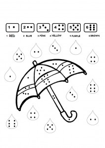 color-by-number-umbrella-worksheet-212x300 Vegetable Cut And Paste Worksheet on for kids, farm animals, fall color, shape matching,