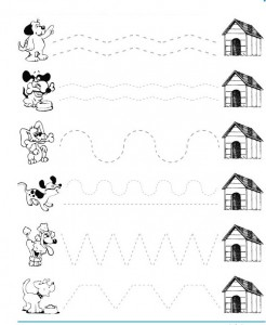 dog trace worksheet