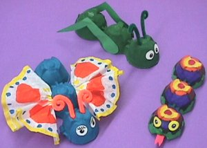 egg carton bugs craft