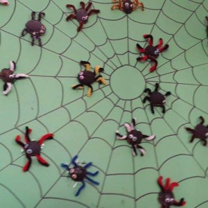 egg carton spider bulletin board