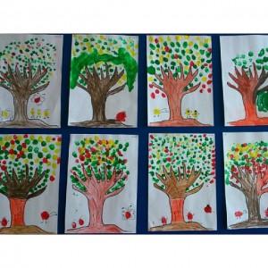 fingerprint tree craft idea for kids
